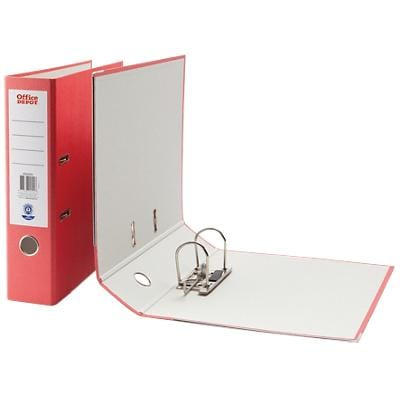 Office Depot Lever Arch File 75 mm Paper On Board 2 A4 Red