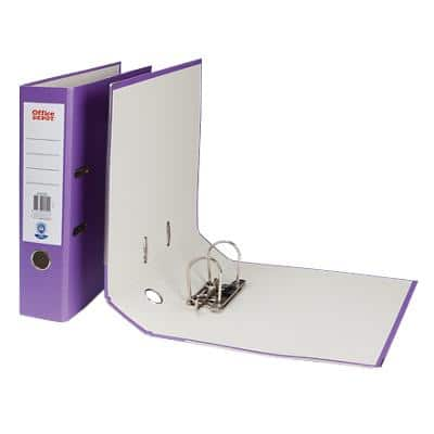 Office Depot Lever Arch File Purple A4 75 mm