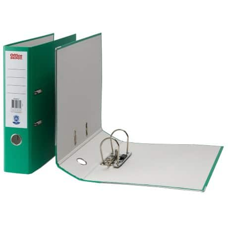 Office Depot Lever Arch File A4 2 ring 75 mm Green
