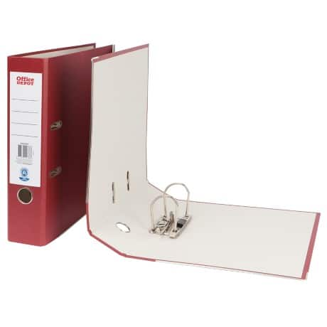 Office Depot Lever Arch File A4 2 ring 75 mm Burgundy