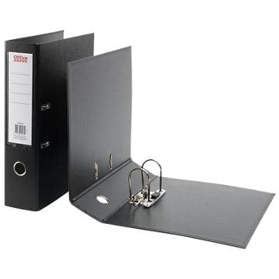 Office Depot Lever Arch File 80 mm Polypropylene 2 ring A4+ Black