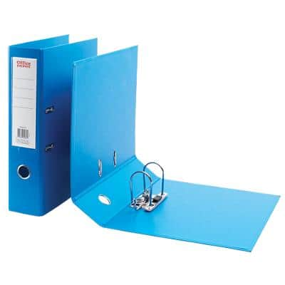 Office Depot Lever Arch File 80 mm Polypropylene 2 ring A4+ Blue