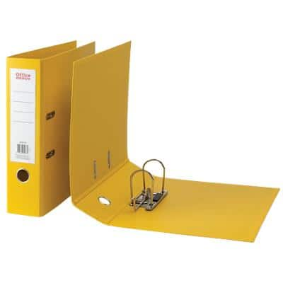 Office Depot Lever Arch File 80 mm Polypropylene 2 ring A4 Yellow