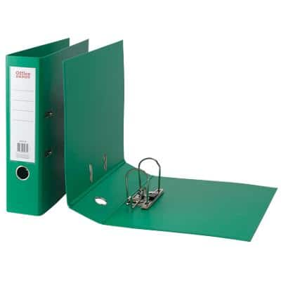 Office Depot Lever Arch File 80 mm Polypropylene 2 ring A4 Green