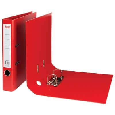 Office Depot Lever Arch File 50 mm Polypropylene 2 ring A4 Red