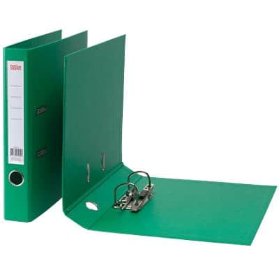 Office Depot Lever Arch File 50 mm Polypropylene 2 ring A4 Green