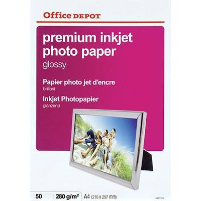 Office Depot Premium Photo Paper Glossy A4 280gsm White