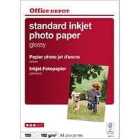 Office Depot Photo Paper A4 180gsm White Glossy 100 Sheets