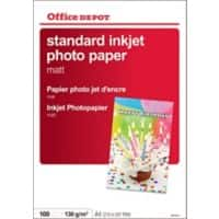 Office Depot Everyday Inkjet Photo Paper, Matte, A4, 130gsm