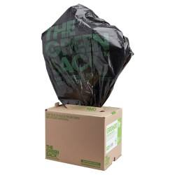 The Green Sack light-duty refuse sacks black 838 x 737 mm (h x w) 5 kg capacity 100 per box