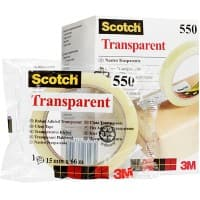 Scotch Adhesive Tape 550 Transparent 66 m x 1.9 cm Pack of 8