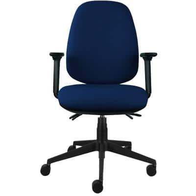 Energi-24 Synchro Tilt Ergonomic Office Chair with Adjustable Armrest and Seat Air-Care Blue