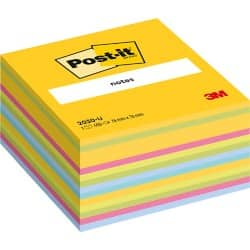 Post-it Sticky Note Cube 2030U Assorted 76 x 76 mm 70gsm 225 sheets