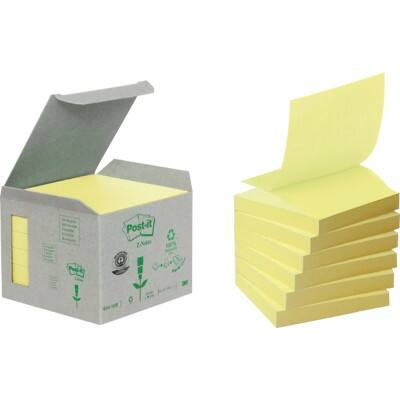 Post-it Sticky Notes 76 x 76 mm Yellow 6 Pieces of 100 Sheets