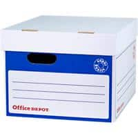 Office Depot Super Strong Self Locking Mechanism Archive Boxes Blue 264(H) x 346(W) x 410(D) mm Pack of 10