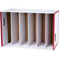 Office Depot Lever Arch File Storage Unit Red, White 55.9 x 29 x 37.3 cm