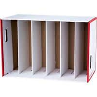 Office Depot Lever Arch Storage Unit Red - Pack of 1