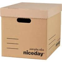 Niceday Economy Archive Boxes Brown 301(h) x 297(w) x 404(d) mm Pack of 10