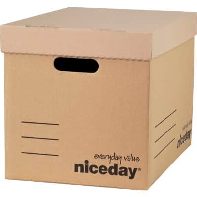 Niceday Economy Archive Boxes Brown 30.1 x 29.7 x 40.3 cm 10 Pieces
