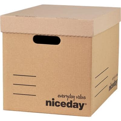 Niceday Economy Archive Boxes Brown 290(H) x 384(W) x 383(D) mm Pack of 10