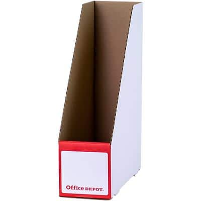 Office Depot Magazine File White 337 (H) x250 (D) x 100 (W) mm Pack of 10