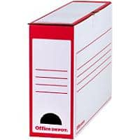 Office Depot Transfer File Foolscap Red, White 97 mm Pack of 20
