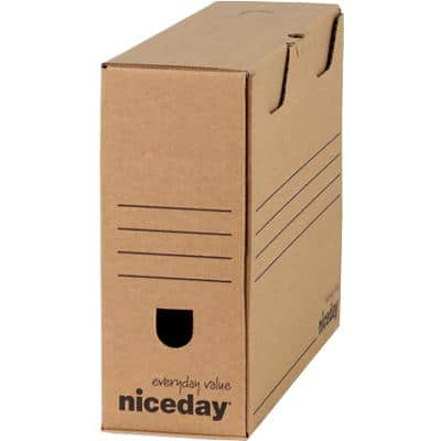 Niceday Transfer File Brown 94 mm Hardboard Pack of 10