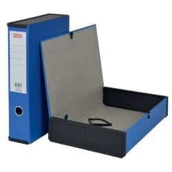 Office Depot Box File Foolscap 75 mm Blue