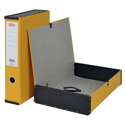 Office Depot Box File Foolscap 2 Rings 75 mm Yellow