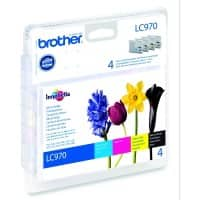 Brother LC-970VALBP Original Black & 3 Colours Ink Cartridge
