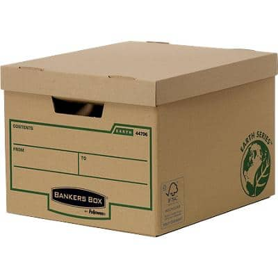 BANKERS BOX Earth Series Standard Storage Box 27 x 33.5 x 39.1 cm Pack of 10