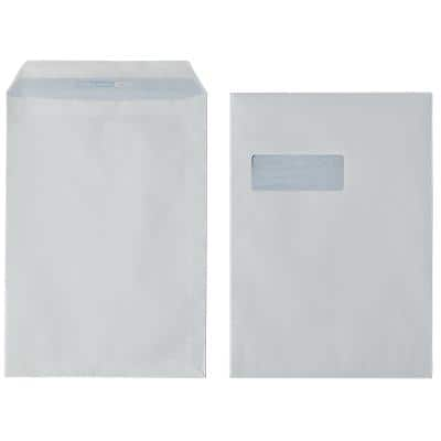 Office Depot C4 Envelopes 229 x 324mm Self Seal Window 90gsm White Pack of 250
