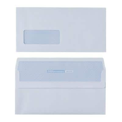 Office Depot DL Envelopes 220 x 110mm Self Seal Window 80gsm White Pack of 250
