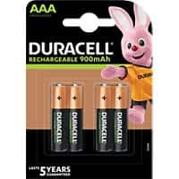 Duracell AAA Rechargeable Batteries Recharge Ultra HR03 900mAh NiMH 1.2V Pack of 4