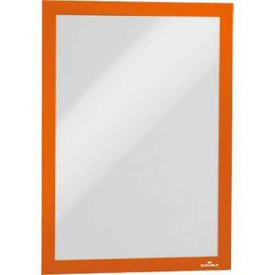 DURABLE Wall Mountable Magnetic Infoframe A4 236 x 323 mm Orange Pack of 2