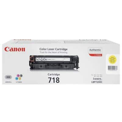 Canon 718Y Original Toner Cartridge Yellow