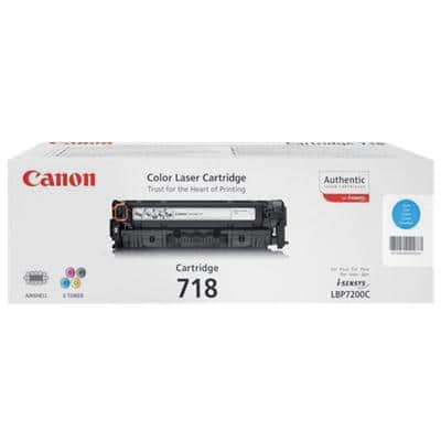 Canon 718C Original Toner Cartridge Cyan