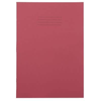 Exercise Books A4 Ruled 80 Pages Red 210 (W) x 297 (H) mm Pack of 50