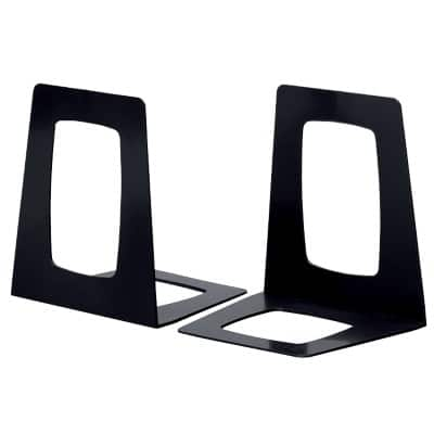 Atlanta Book Ends Black 17.8 x 13.8 x 15.6 cm 2 Pieces
