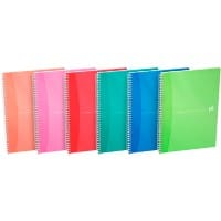 OXFORD Office My Colours A4 Wirebound Assorted Poly Cover Notebook Ruled 180 Pages Pack of 5