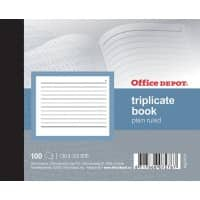 Office Depot Triplicate Book 130 x 105mm Perforated 300 Sheets