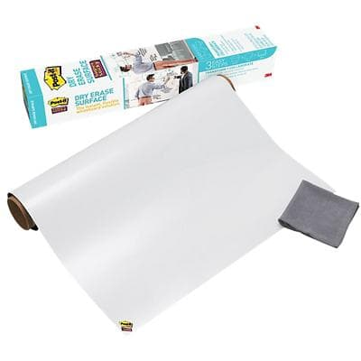 Post-it Dry Erase Film Super Sticky White 91.4 x 60.9 cm
