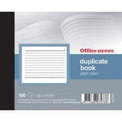 Office Depot plain ruled 105 x 130 mm duplicate book (100 Sheet Sets)