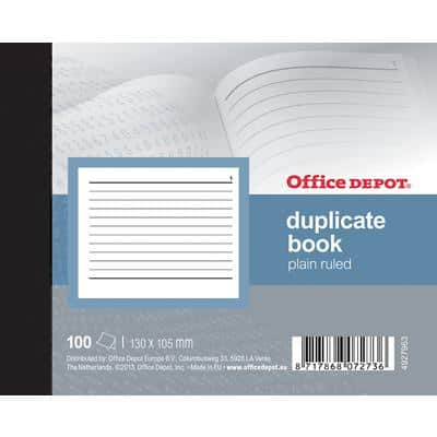 Office Depot Ruled Duplicate Book 10 x 15 cm 200 Sheets
