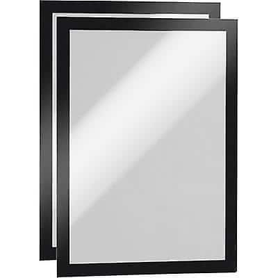 DURABLE Duraframe Magnetic Display Frame Black A4 Pack of 2