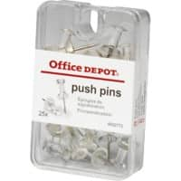 Office Depot Push Pins Clear Pack of 25