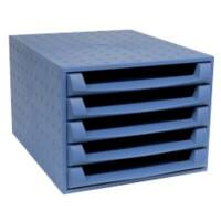 Exacompta Drawer Unit 221101D Polypropylene Blue 28.4 x 38.7 x 21.8 cm
