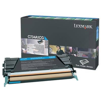 Lexmark C734A1CG Original Toner Cartridge Cyan