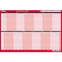 Office Depot Unmounted Staff Planner 2021 Red