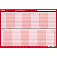 Office Depot Mounted Staff Planner 2021 Red